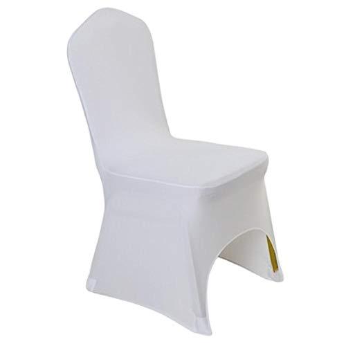 Witte kleur goedkope stoelhoes spandex lycra elastische stoelhoes sterke zakken voor bruiloft decoratie hotel banket groothandel, ARCH FRONT OPEN, 220GRAMS PER PC