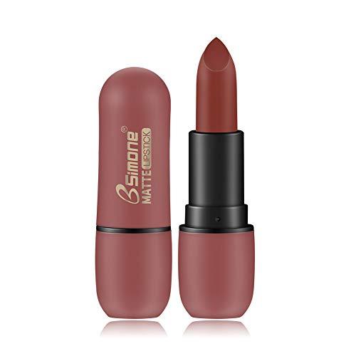 ETbotu Lippenstift - wasserfester,matter Lippenstift,dauerhafter,matter Samtlippenstift 01# Karamellfarbe
