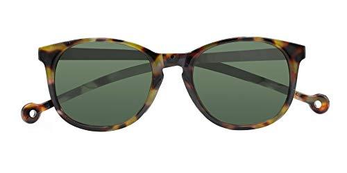 PARAFINA Arroyo Gafas de Sol para Mujer y Hombre, Protección UV400, Gafas Eco-Friendly Polarizadas, Resistentes al Agua y Ultra Ligeras, Montura Eco-friendly color Carey y Lentes Verdes