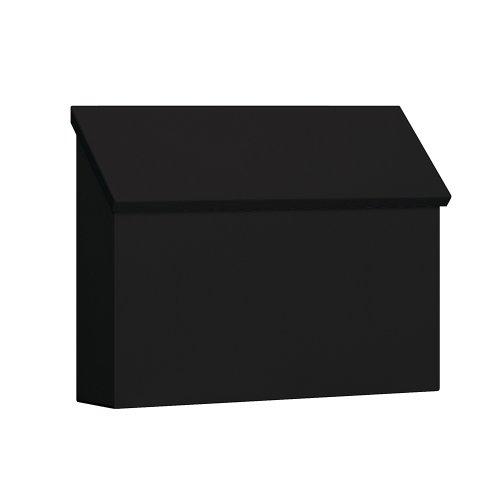 Salsbury Industries 4610BLK, Black Traditional Mailbox, Standard, Horizontal Style