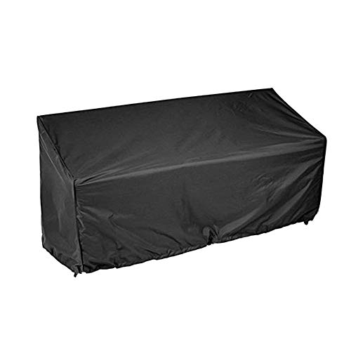 Garden Bench Cover 2/3/4 Seater Waterproof Anti-UV Heavy Duty Bench Protective Cover Long Chair Cover Outdoor Patio Rattan Furniture Cover with Drawstring Cord and Storage Bag(3 Seat)