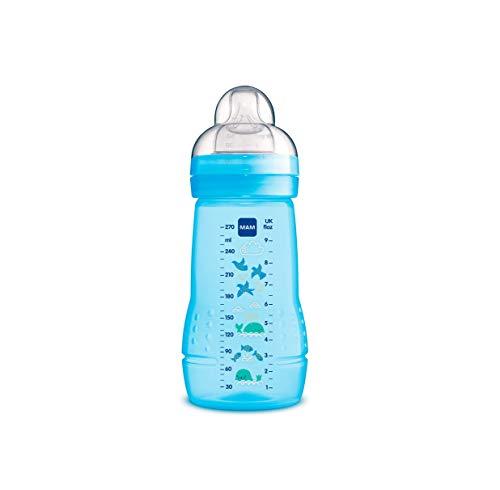 MAM Biberón Easy Active Baby Bottle A131 - Con Tetina De Silicona Skinsofttm Ultra Suave, Para Bebés A...