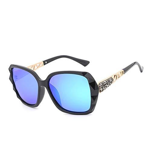 ZLUCKHY Gafas De Sol para Mujer,Gafas Polarizadas con Montura De Gran Tamaño Retro,Lente De Nailon con Protección UV400,B