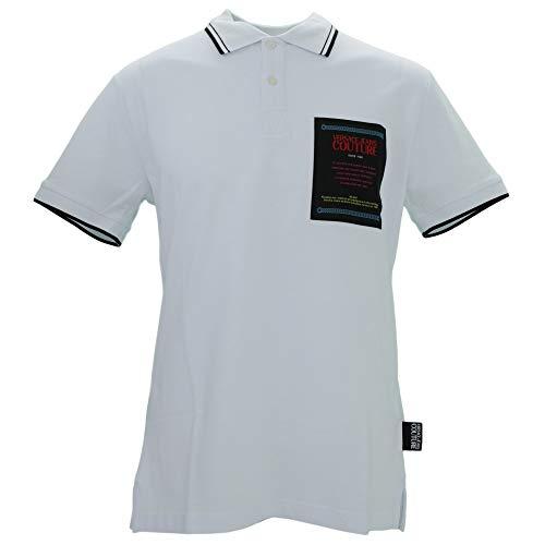 Versace Jeans Couture Herren Polo Poloshirt, Weiß (Bianco Ottico 003), Large (Herstellergröße: 52.0)