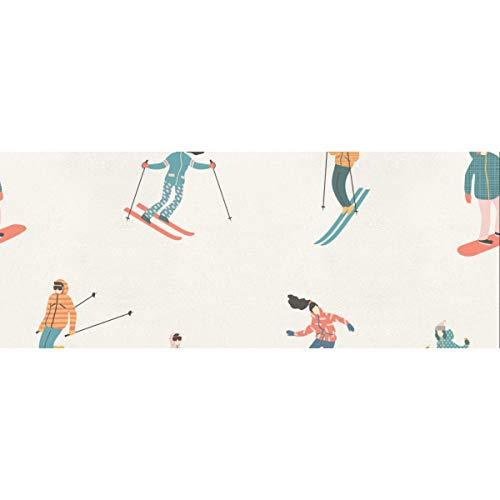 Papel de regalo de dibujos animados para esquiadores y snowboarders 58 x 23 pulgadas 2 rollos de papel de regalo de Navidad Papel de regalo de graduación para el día de la madre Pascua Bodas Cumpleañ