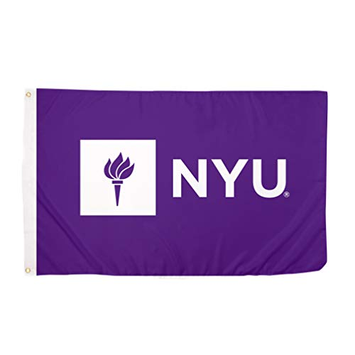 Desert Cactus New York University NYU Violets 100% Polyester Indoor Outdoor 3 feet x 5 feet Flag