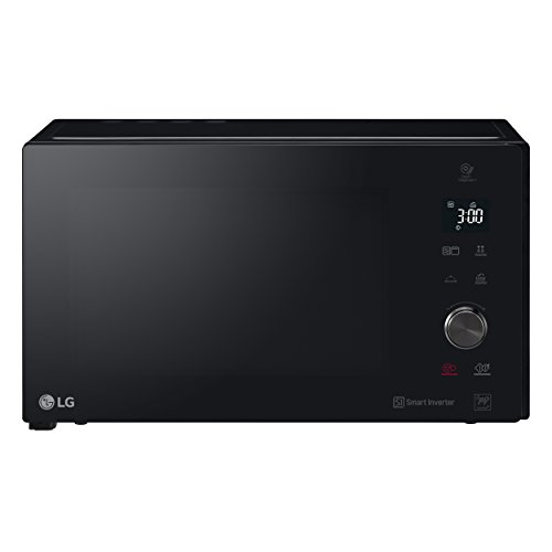 LG MH7265DPS Grill Smart Inverter - Microondas Grill 2 en 1, 1200W, 32 L, Display LED, Plato interior 360 mm, Color Negro, 32.7 (alto) x 54.4cm (ancho) x 52.5 cm (profundo)