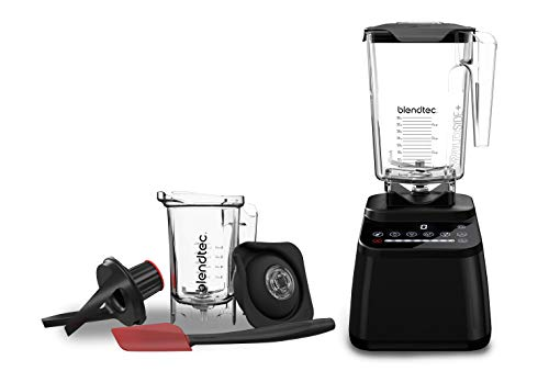 Blendtec Designer 650 with Wildside+ Jar and Twister Jar Bundle Countertop Blender, Black Bundle