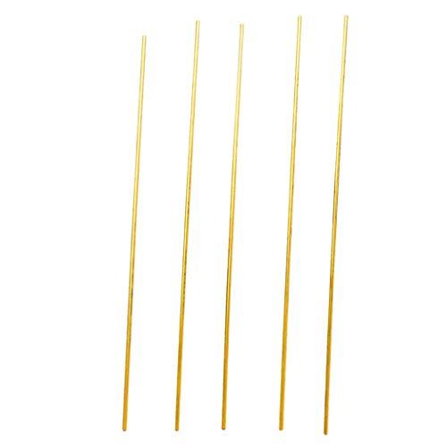 5pcs Metall Messing Rohr - 300mm Lang, 3 Durchmesser Größen Optional - A