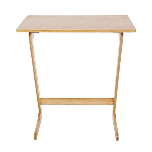 DSED Mesa de sofá, Color de Madera de bambú en Forma de Z de la Tabla del sofá del sofá para el Escritorio del Ordenador portátil de Ministerio del Interior