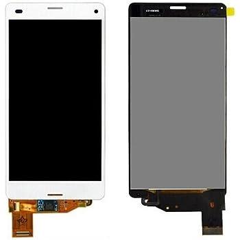SKILIWAH® Sony Xperia Z3 Compact D5803/So-02G/Z3 Mini 修理交換用フロントパネル(フロントガラスデジタイザ) タッチパネル 液晶パネルセット ホワイト