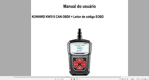 Manual Em Português Do Scanner Konnwei Kw-310: manual em português (Portuguese Edition)