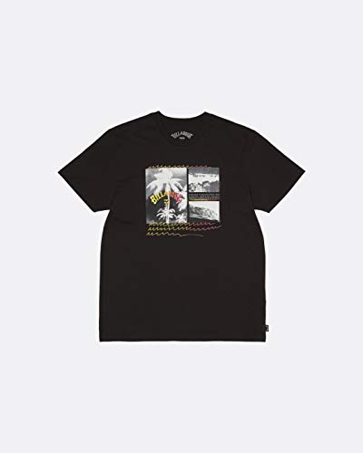 BILLABONG Crash tee SS T-Shirt, Hombre, Black, S