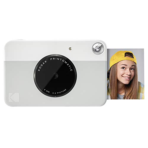 Kodak PRINTOMATIC Digital Instant Print Camera (Grey), Full Color Prints On ZINK 2x3' Sticky-Backed Photo Paper - Print Memories Instantly