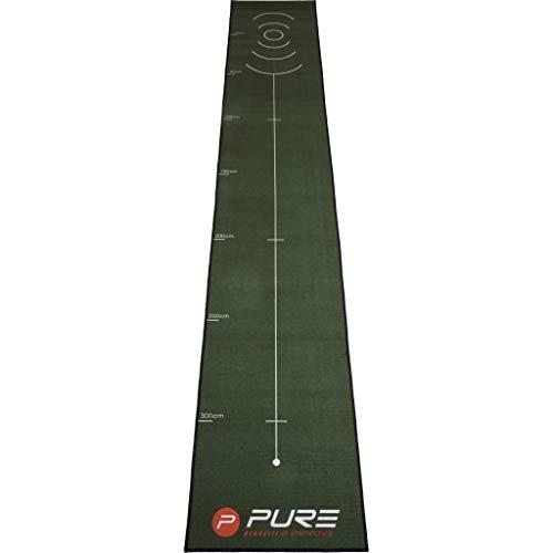 Pure2Improve Unisex's Gold Putting Mat, Black, 400 x 66 cm