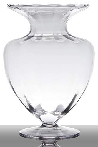 INNA-Glas-Vase–Poser-au-Sol-en-Verre-Kendra-sur-Pied-Conique-Rond-Transparent-33cm–235cm-Vase-sur-Pied-Vase-dcoratif