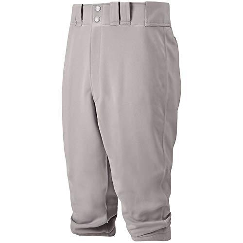 Mizuno 350312.9191.08.XXL Youth Premier Short Baseball Pant, Grey, Youth XX-Large