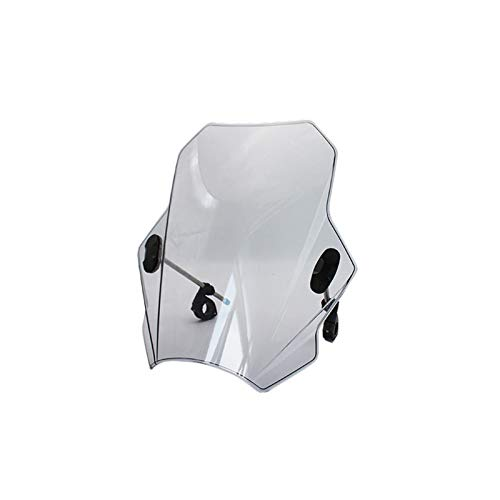 Motorcycle Windscreen Universal Windshield Covers Screen Smoke Lens Motorbikes Deflector For D&UCATI For Y&amaha For For S&uzuki T&riumph Windscreen (Color : B)