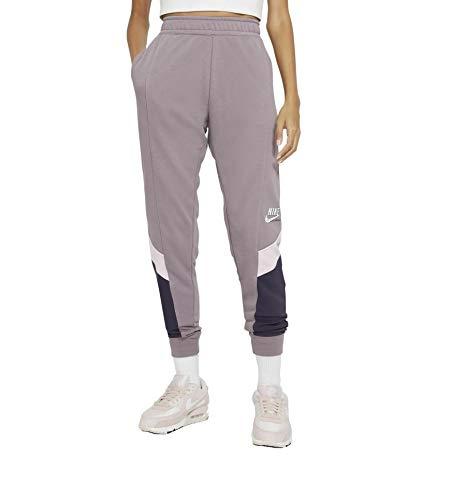Nike Heritage Fleece - Pantalones de chándal para mujer morado/blanco XS