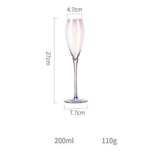 N / A Gobelet, Verre à vin Rouge, Petit Verre à vin en Verre Domestique, Verre à Champagne biseauté personnalité-200 ML