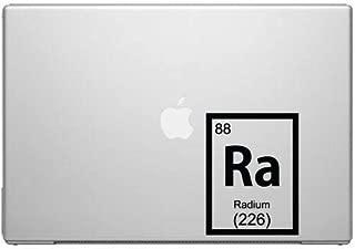 Science Sticker Science Decal Radium Periodic Element Science MacBook Car Tablet Art - Black Vinyl Decal
