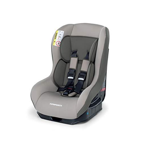 Foppapedretti Go! Evolution - Seggiolino auto Gruppo 0/1 (0-18 Kg) per Bambini dalla Nascita Fino a 4 Anni Circa, Marrone (Chiaro Sand)