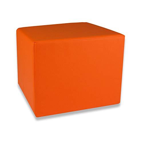 Fränkische Schlafmanufaktur Stufenlagerungswürfel, Bandscheibenwürfel, Lagerungswürfel, mit Soft-Kunstlederbezug, ca. 45x40x35 Farbe Orange