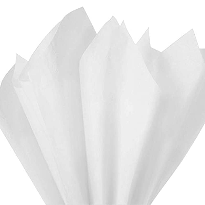 Basic Solid White Bulk Tissue Paper 15 Inch x 20 Inch - 200 Sheets by COTU
