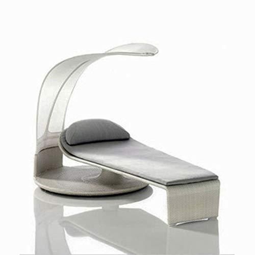 RAPLANC Patio sillón, Cama al Aire Libre, Piscina, tumbonas de Playa, Patio, Ocio al Aire Libre, terraza Perezoso, el Respaldo de Mimbre, Cama Creativa (2.5 * 1.2 * 1.8M)