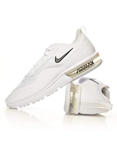 Nike Herren Air Max Sequent 4.5 Leichtathletikschuhe, Weiß (White/Black 000), 45.5 EU