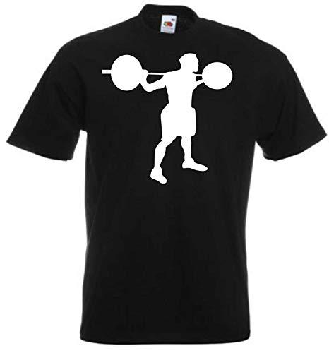 JINTORA Camiseta T-Shirt - Halterofilia - JDM/Die Cut - para Fiesta Carnaval Carnaval Laboral Deportes