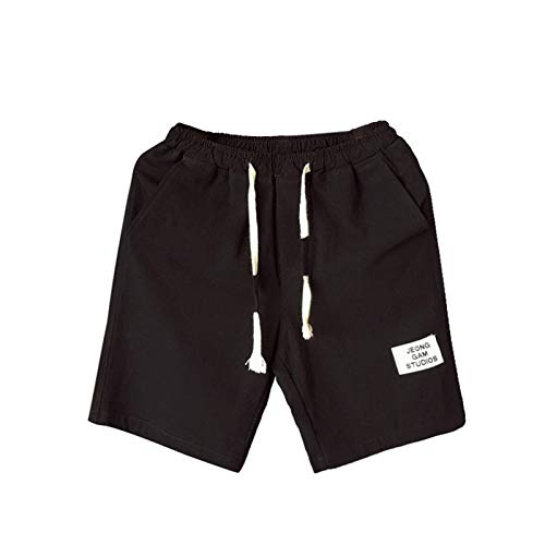 2021 Nuevo Pantalones Hombre Verano Casual lino Moda Pantalones Corto Color sólido Jogging Talla grande Deportivos Pantalon Fitness Cortos Pantalones Pantalones de playa Bañador Chándal de hombres