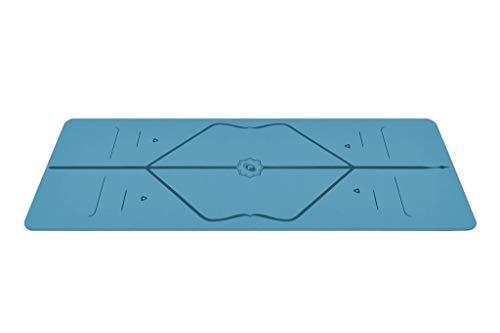 Liforme Reise Yogamatte - Blau - aus umweltfreundlichem Gummi - 2mm dünn - mit Yogatasche