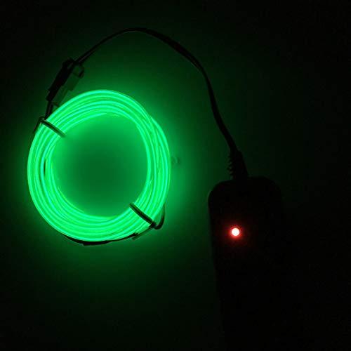 HROIJSL Fahren Sie 5 Meter EL kaltes Licht Weihnachtsfeier Maske Gläser EL Lichtlinie Gürtelseil Beleuchtung dekorative Neon USB Controller