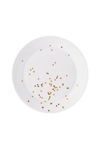 Arzberg Sternenzauber Plätzchenteller 27 cm, Porzellan, Weiß, 21 x 21 x 7 cm
