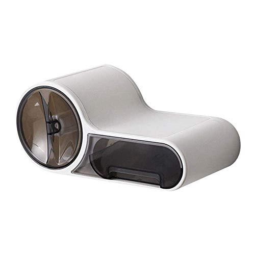 Mano de obra única, esencial para el hogar Impermeable Rollo de inodoro Titular de tejido Caja Dispensador de papel Autoadhesivo Montado en la pared Todos los estantes de los teléfonos móviles cubiert