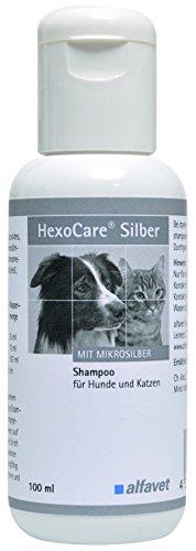 HexoCare Silber Shampoo mit Chlorhexidin und Microsilber/ entfernt gründlich Schmutzpartikel, Allergene, abgestorbene Zellen und anderes organisches Material/ reduziert die Belastung durch eine veränderte Hautflora/ nicht reizend - auch bei offenen Hautstellen einsetzbar