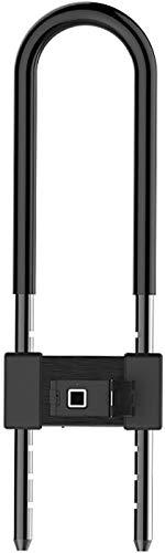 ZouYongKang Huella Digital de Servicio Pesado Inteligente.Impermeable |Bloqueo sin Llave antirrobo de Alta Seguridad Bicicleta, Scooter, Motocicleta o Puerta