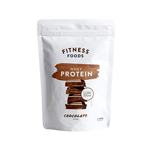 Fitness Foods Whey Protein   Chocolate – 390g   Premium Eiweiß  Proteinpulver