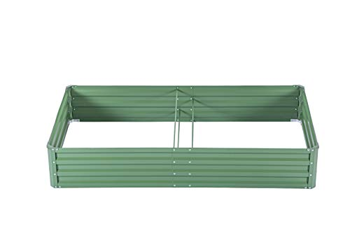 zizin Galvanized Raised Garden Beds Kits Metal Elevated Planter Box Steel Vegetable Flower Bed Kit Bottomless for Flowers Herbs Fruits Outdoor Patio Frame Green 56 x3x1ft