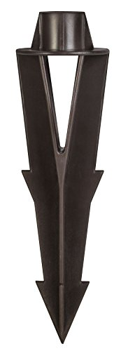 """Hinkley 9-Inch Composite Ground Spike - 9"""" Ground Stakes Replacement for Outdoor Landscape Lighting - Corrosion Resistant, Bronze Finish, Plastic Landscape Light Stake for 12V Fixtures, 0014BZ"""