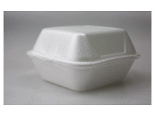 Hamburgerbox 125St - 1000St weiss gross Menüschalen Snackbox Menübox Verpackung, Wunsch:250 Stück