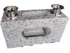 花立 香炉 墓石用花立一体型G623 白御影石