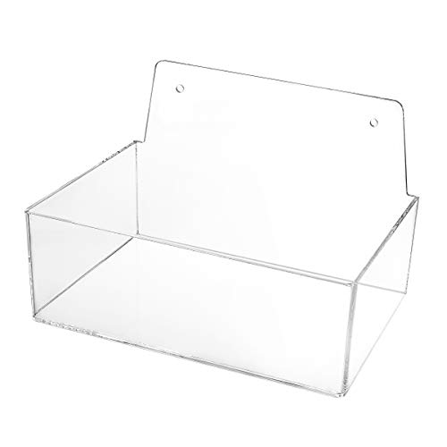 AdirOffice Hairnet & Shoe Cover Dispenser - Standing/Wall Mount Acrylic Container for Gloves, Hair Net & Covers - Laboratory, Kitchen & Restaurant Plastic Organizing Storage (3 x 9 x 6)
