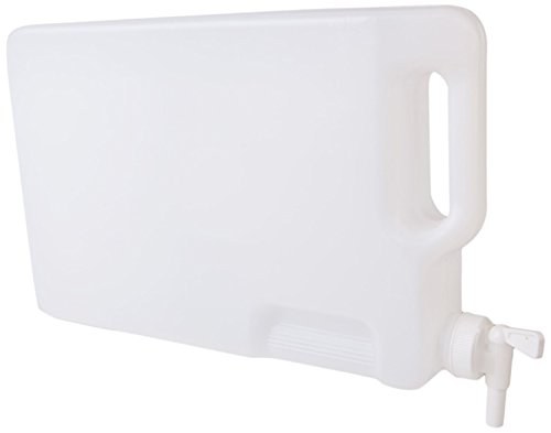 Hudson Exchange 5 Liter Hedpak Container with Spigot, HDPE, White