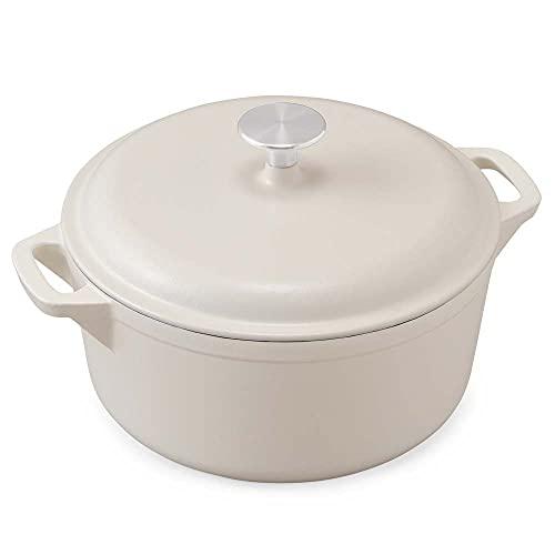 【1台で6調理法】アイリスオーヤマ ホーロー鍋 無水鍋 両手鍋 鋳物 ホーロー 鋳鉄鍋 24cm鋳物ホーロー鍋 無加水調理 オーブン調理可 おしゃれ 汚れが付きにくい 丈夫 ホワイト