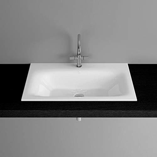 Bette Lux Einbau-Waschtisch ohne Hahnloch, A161 800 x 495 mm, Farbe: Weiß