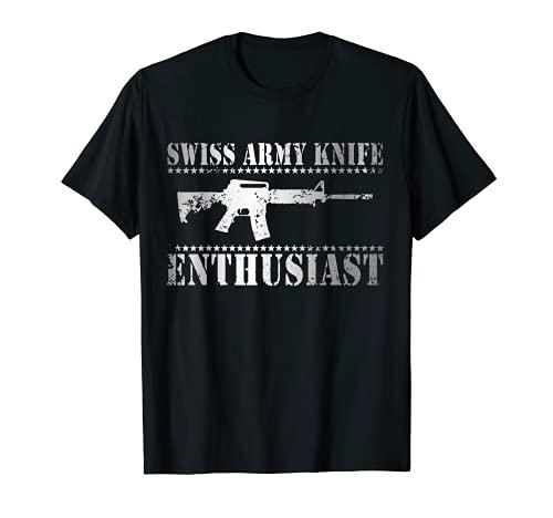 Epischer Schweizer Taschenmesser-Enthusiast AR-15 Komm und T-Shirt