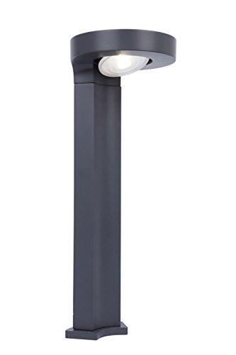 LED Solar buitenlamp staande lamp Eco-Light P9067-450 Lutec Diso staande lamp padverlichting met grondpen tuinverlichting weerbestendig kunststof antraciet dimbaar in 2 stappen