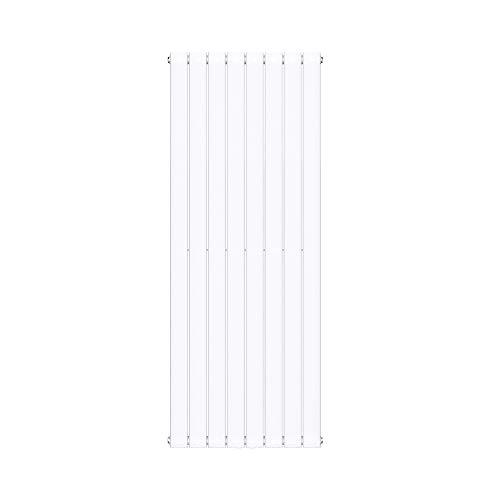 Sogood Radiateur pour Chauffage Central 160x61cm Radiateur à Eau Chaude Panneau Monocouche Design Vertical Blanc